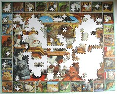 The World of Cats (Leonisha) Tags: puzzle unfinished jigsawpuzzle