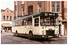 Chesterfield Borough Transport Bus 41. (ManOfYorkshire) Tags: history warrington derbyshire lincolnshire nostalgia 1984 falcon dennis blackpool chesterfield ipswich 41 hunts churchway route40 eastlancs 210484 twj341y broomfieldestate