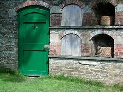 Green Door (votsek) Tags: 2005 england wall heligan