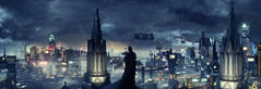 Neo Gothic (QuantumLogic_VG) Tags: panorama skyline night screenshot cityscape skyscrapers superhero batman videogame arkhamknight