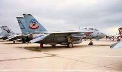 Hats Off to them (crusader752) Tags: fighter 1996 jet usnavy usn topgun tomcat grumman unitedstatesnavy ussjohnfkennedy airday f14a tophatters vf14 rnasyeovilton fighting14 buaerno 159863aj201