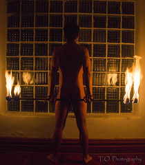 Fire (to.photography) Tags: hot window canon dark studio nude fire photography warm warmth indoor flame taylor inferno to pyro hott luka owens firepoi ignite combustion f110 flameing tophotography canont3 taylorwowens igniotion