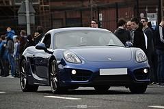 Porsche Cayman (Jaj_Works) Tags: blue rally belfast porsche quarter cayman titanic 3000 gumball