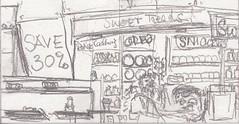 Airport Shopping Center Terminal - und schon wieder vorbei (raumoberbayern) Tags: pencil paper sketch drawing sketchbook tenerife draw papier teneriffa bleistift robbbilder skizzenbuch