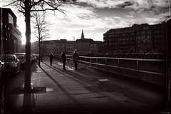 (week 1 of 52) The shadow of 2015 is fading fast (Pat Kelleher) Tags: ireland shadow urban blackandwhite bw white black fuji candid cork grain streetphotography urbanlandscape  patkelleher patkelleherphotography fujix100t
