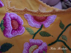 KikaBordados Kika  Krauss 100 (Kika Bordados by Angelica Krauss) Tags: pink flowers flores handmade embroidery laranja crochet tshirt amarelo bordados manualidades croche embroider feitomo camisetabordada camisetabordadamo bordadosfeitomo kikabordadoskikakrauss