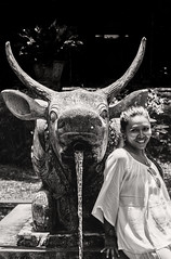 Niriana b&w (Triple_B_Photography) Tags: world travel vacation portrait people blackandwhite bali holiday tourism water contrast canon garden indonesia asian temple eos blackwhite asia happiness tourist journey 7d destination ornamental orang karangasem