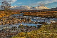 Winter View (Shuggie!!) Tags: trees winter snow mountains water landscape scotland highlands rocks williams hills rivers karl grasses hdr afternoonlight blackmount zenfolio karlwilliams