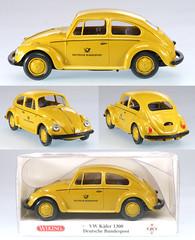 WIK-8309-VW-ADAC (adrianz toyz) Tags: scale vw volkswagen office model post beetle plastic kfer deutsche aircooled 140 bundespost dbp greman
