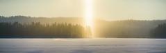 (@Tuomo) Tags: panorama sun lake ice sunshine landscape nikon df halo 300mm photomerge nikkor jyväskylä pf päijänne finlad korpilahti kärkistensalmi