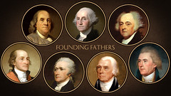 The Founding Fathers (DonkeyHotey) Tags: art face photomanipulation photoshop painting photo political politics manipulation politician georgewashington benjaminfranklin foundingfathers thomasjefferson commentary alexanderhamilton jamesmadison politicalart johnjay johnadams politicalcommentary donkeyhotey
