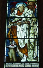 St Luke (Aidan McRae Thomson) Tags: church window stainedglass cumbria priory preraphaelite lanercost burnejones morrisco
