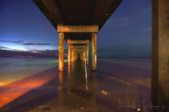 Under the boardwalk (PhotoArt Images) Tags: beach pier dusk jetty australia boardwalk southaustralia hotsummernight nikond810 nikon2470mm28 photoartimages brightonbeachadelaide
