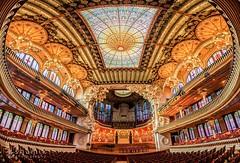 Palau De La Musica (inanutshell) Tags: barcelona travel architecture spain interior pano bcn ornate shamik shamikphotographycom