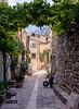 1311-0032-Modifier (photoclub.puyloubier_sv) Tags: chat village pierre bleu maison rue vigne pcp brouette volet puyloubier saintevictoire pavée ruedelagaité