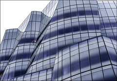 Glacier (Maerten Prins) Tags: windows newyork abstract reflection building glass lines modern composition america mess unitedstates manhattan curves gehry glacier amerika frankgehry explored