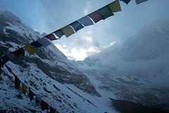 The fog covers (Pooja Pant) Tags: nepal mountains beautiful trek abc annapurna annapurnabasecamp macchapuchre