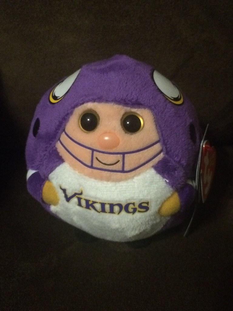 87a64944c Minnesota Vikings (Beanies and Webkinz 457) Tags  minnesota nfl beanie  vikings ballz minnesotavikings
