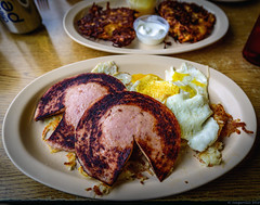 Jail House Special at Jerry's Diner (piano62) Tags: chicago breakfast bologna eggs diners potatopancakes jerrysdiner nikon1835g montroseandwestern nikond750