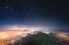 Sleeping Volcano (Indonesia, Bali) (Anton Jankovoy (www.jankovoy.com)) Tags: city travel bali mountain night indonesia stars landscape island volcano asia hiking hills batur agung