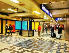 Amsterdam Central Station (Albert Jafar) Tags: people holland building netherlands amsterdam tiles trainstation transportation amsterdamcentraal travelers commuters architechure amsterdamcentralstation photographerswharf