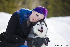 _MG_3893 (Dun By Kaitlin) Tags: winter pets snow love dogs animals forest hair fur snuggle woods hug husky purple