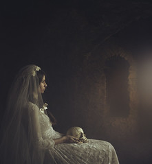the crypt... (magdalena.russocka) Tags: light portrait woman colour castle girl beautiful beauty illustration portraits vintage dark bride colorful pretty mood moody colours veiled veil dress darkness emotion lace gothic victorian indoor oldhouse story expressive nostalgic inside illustrator colourful gown emotional conceptual manor emotions crypt renaissance emotive atmospheric scull narrative storytelling evocative periodic lacedress flickraward5