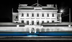 Stora Teatern  2 (Olderhvit) Tags: night göteborg photography sweden fineart gothenburg tram lighttrails streetcar goteborg selectivecolor 2016 thetheater storateatern framingthestreet olderhvit