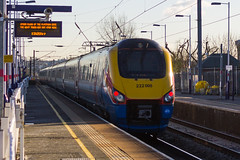 222008 East Midlands Trains (LFaurePhotos) Tags: station train railway publictransport highspeed northwestlondon millhillbroadway class222 eastmidlandstrains 222008
