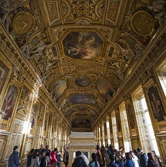 Paris - Golden Louvre (chrisbastian44) Tags: city urban paris france building art museum architecture europe european pyramid louvre palace opulent cdg worldfamous louvremuseum workofart architecturalworkofart