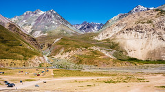 The immensity of the Andes (J. D. Escobar) Tags: camping summer mountains hiking roadtrip hike andes mountainview montaa basecamp losandes mountainscape cajondelmaipo immensity paisajedemontaa