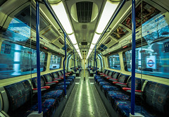 When You Have Too Much Choice - London Underground (On Explore 25th Jan 2016) (Simon & His Camera) Tags: city blue urban london lines underground lights colours tube explore passage iconic simonandhiscamera