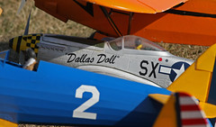 Patiently Waiting (jrussell.1916) Tags: blue orange yellow aircraft airplanes kansas shawneemissionpark remotecontrolaircraft canon400mmf56lusm