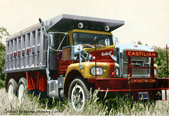 Brockway Castilian Colorized (gdmey) Tags: classic dumptruck colorized trucks brockway classictrucks huskie