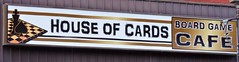 House of Cards Board Game Café (Will S.) Tags: mypics brampton ontario canada sign signs business