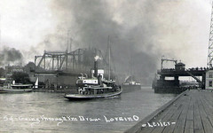 Going Through The Draw (Ashtabula Archive) Tags: ohio tugboat erie lorain kunklebrothers willisaleiter