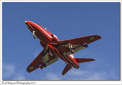 Red Arrow from below (Paul Simpson Photography) Tags: plane airplane aircraft jet aeroplane lincolnshire belly underneath raf redarrow photosof imageof photoof rafscampton imagesof sonya77 paulsimpsonphotography october2015