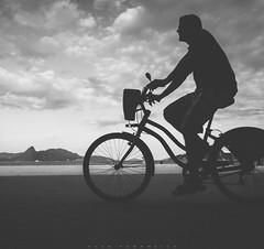Bike around the world (Alex Paradela) Tags: brazil bw bike brasil riodejaneiro landscape rj streetphotography pb pretoebranco monocromtico fotografiaderua