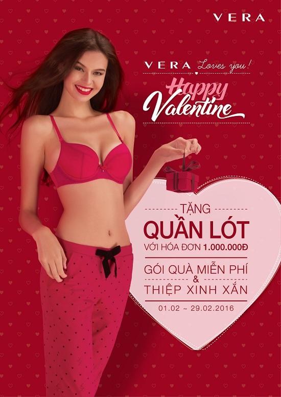 Mua VERA, nhận quà Valentine quyến rũ