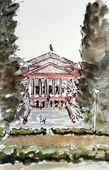Karnataka High Court (jwinstead) Tags: urban reed pen ink watercolor sketch