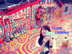 P10405382 (mina_371001) Tags: travel me fun colorful asia taiwan traveler   selfie  i rainbowvillage amazingworld lovetaiwan photographywork olympusomdem10