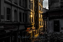 Glowing... (Syahrel Azha Hashim) Tags: city travel light sunset vacation holiday detail building architecture 35mm buildings turkey prime colorful cityscape dof getaway sony scenic naturallight istanbul handheld shallow simple starburst galatatower a7ii colorimage selectivecoloring sonya7 syahrel ilce7m2