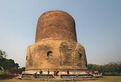Dhamekha Stupa at Deer Park near Sarnath (David Clay Photography) Tags: india buddha stupa buddhism sarnath circumambulation dhamekh