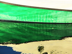 Green reflection (flips99) Tags: blue winter white abstract reflection green water lines norway coast boat seaside january bt vann partial rogaland bl grnn karmy 2016 hvit speiling canonpowershotg15