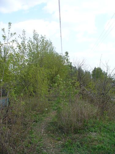Abandoned rail branch in Iventeevka, but with live cantenary