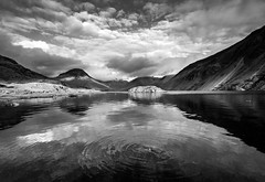 Wasdale mono reflection (alf.branch) Tags: blackandwhite bw lake reflection water sunshine clouds landscape mono ripple lakes lakedistrict olympus cumbria zuiko wastwater wasdale lakesdistrict refelections calmwater westcumbria cumbrialakedistrict olympusomdem5mkii ziuko918mmf4056ed