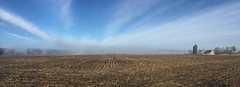 Morning View. (marylea) Tags: morning winter sky field rural sunrise landscape cornfield michigan farm farming bluesky panoramic clear wintersend 2016 washtenawcounty mar12