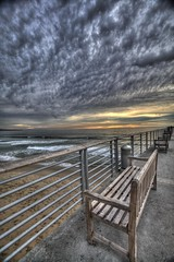Hermosa Beach Pier (Cynthia Damon Photos) Tags: hermosabeach pier hermosa beach ocean hdr sunset shore landscape socal california