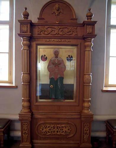 Икона с частицами мощей св. блж. Матроны Московской