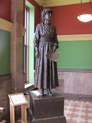 Montana State Capitol Building. (dckellyphoto) Tags: sculpture woman statue female montana capitol rockymountains helena americanwest helenamontana 2011 jeannetterankin mountainwest